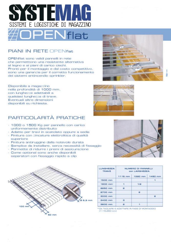 Piano in rete elettrosaldata zincata per Scaffalatura Portapallets