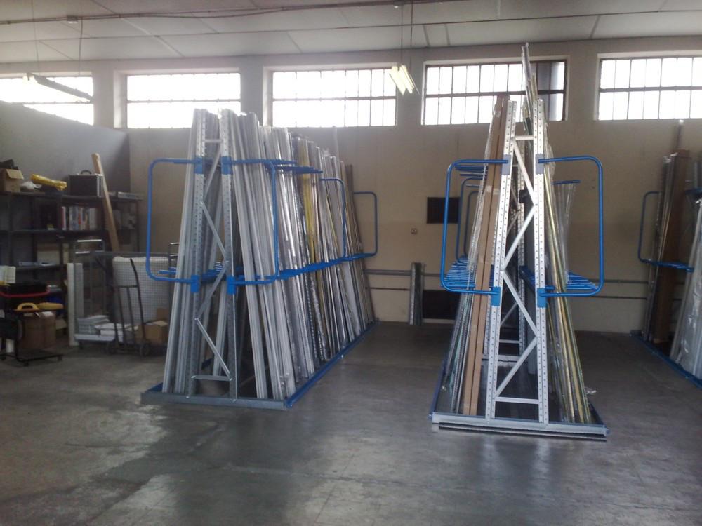 Rastrelliera - Scaffalatura Porta Profili Legno / Acciao