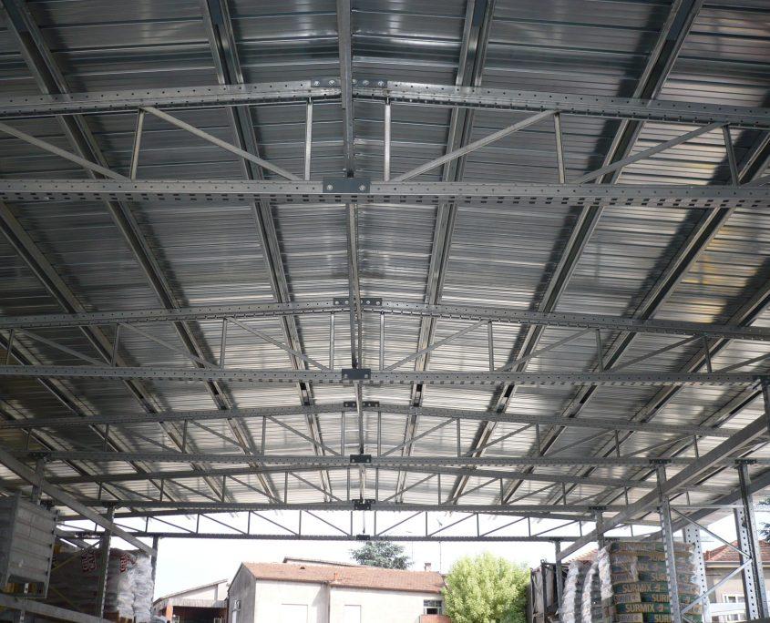 Portapallets con tettoia modello Autoportante