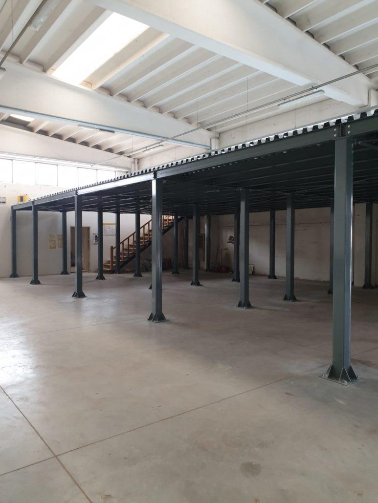 Soppalco modulare ad uso ufficio Treviso
